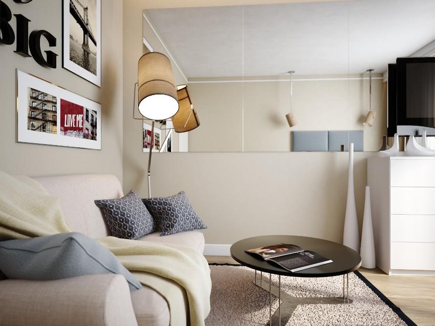 Интерьер в стиле минимализм считается наиболее подходящим для квартир небольшого размера