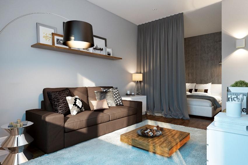 В квартире небольшого размера нужно избегать перегруженности деталями и элементами декора