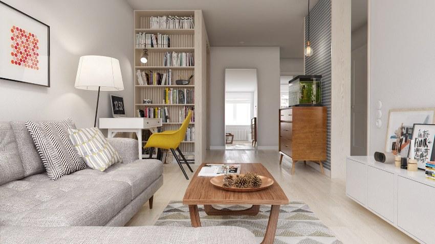 Светлые пастельные оттенки станут прекрасным решением интерьера однокомнатной квартиры