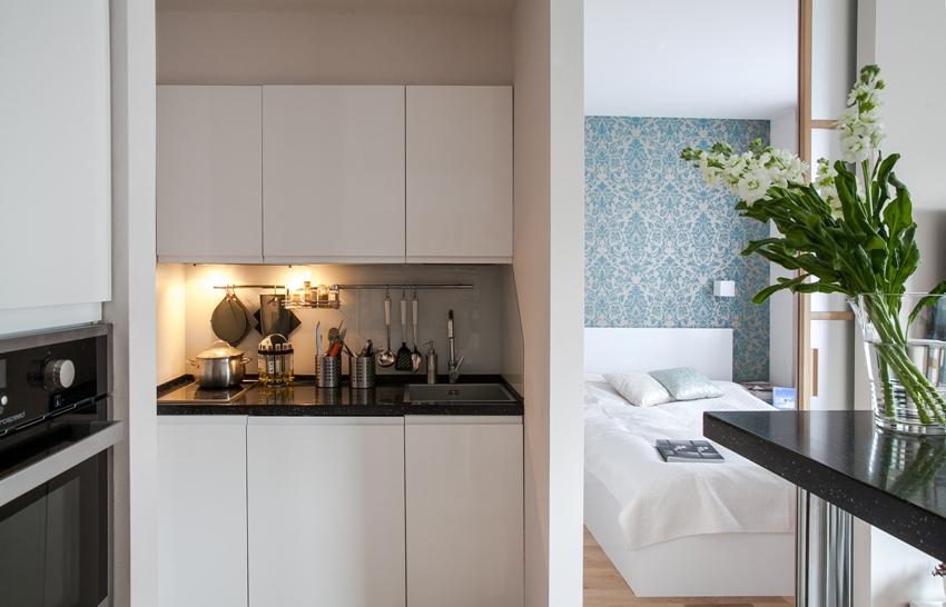 В целом дизайн однокомнатных квартир должен быть очень легким, светлым, воздушным и функциональным
