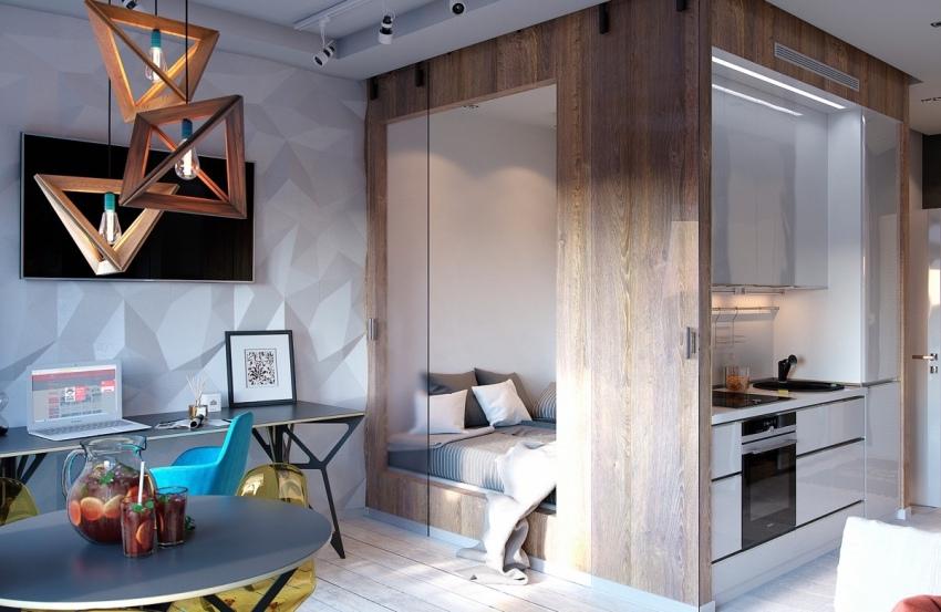 Интерьер однокомнатной квартиры должен быть направлен на увеличение её функциональности, создание уникального стиля при сохранении уюта и красоты