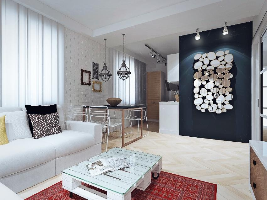 При скромных габаритах квартиры именно обилие света делает жилье более уютным и визуально широким