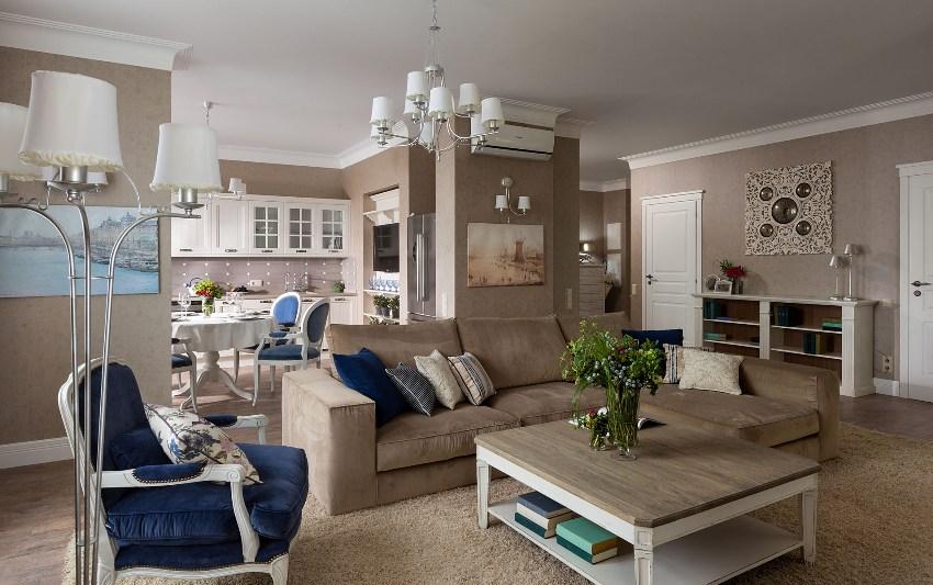 Не стоит останавливаться на одной лампе, можно купить дополнительные светильники и разместите их в разных зонах квартиры