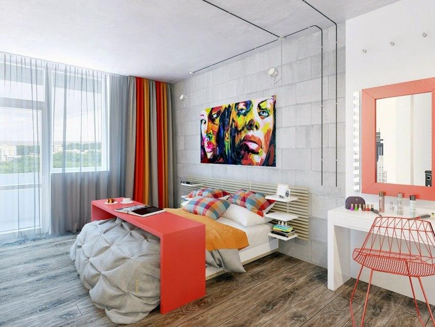 Для небольших однокомнатных квартир важно подобрать легкие и не громоздкие занавески