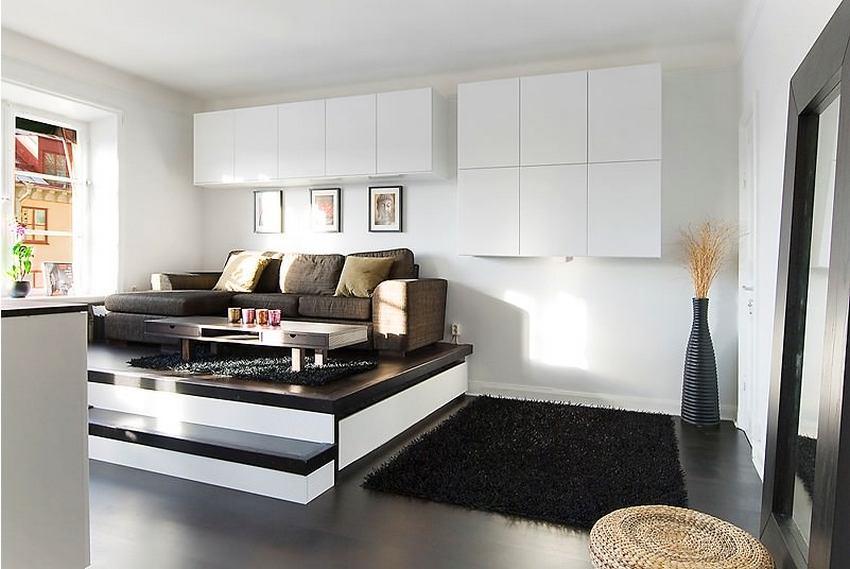 Подиум не рекомендуют изготавливать в квартирах с низким потолком