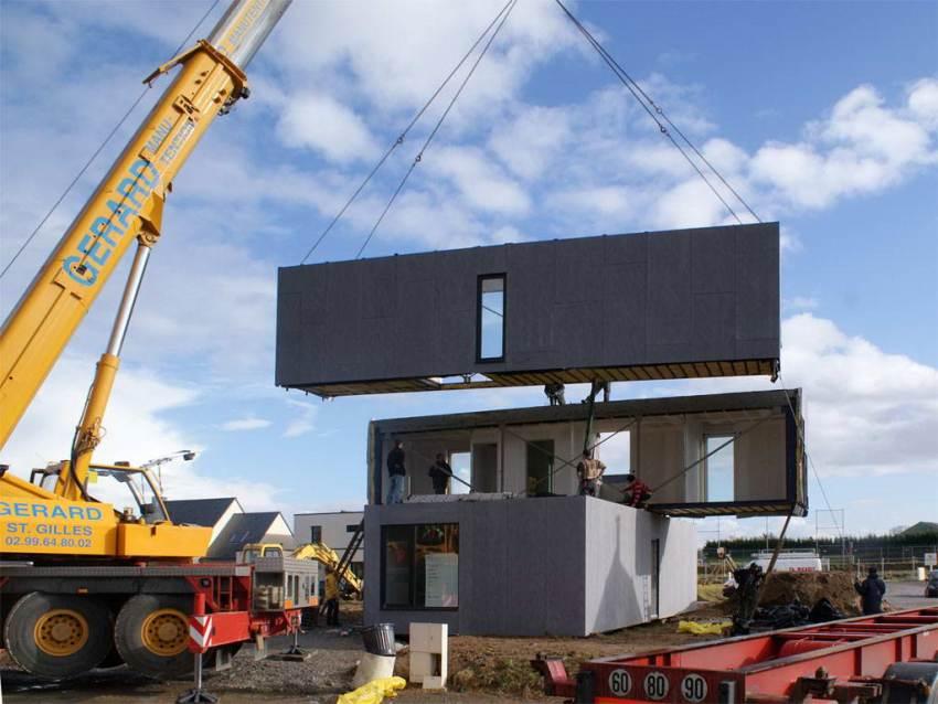 Монтаж контейнерных блоков производится только после полного застывания фундамента