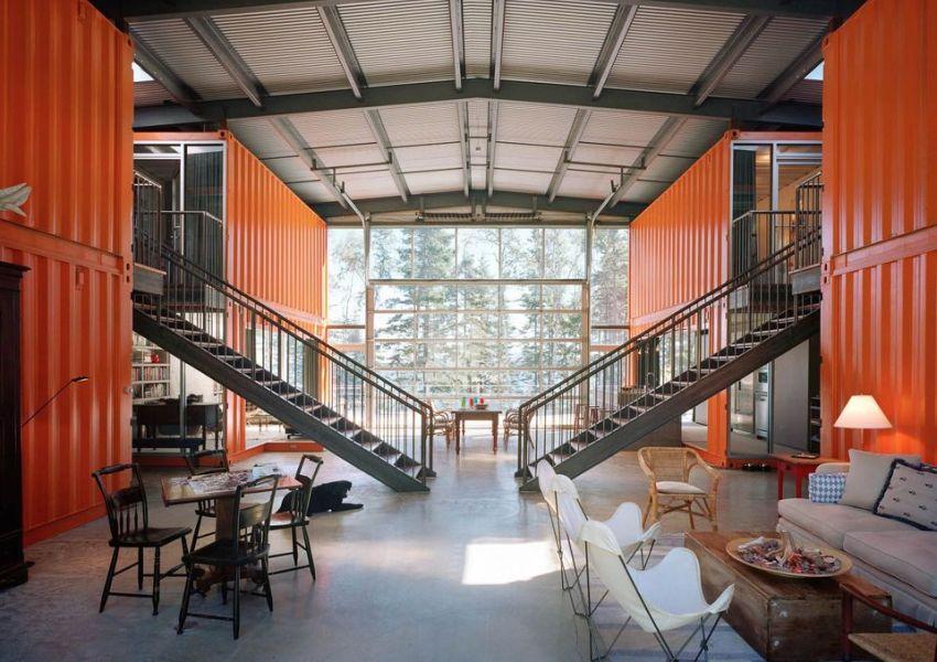 Двухэтажный просторный дом, разработанный архитектором Адамом Калкином