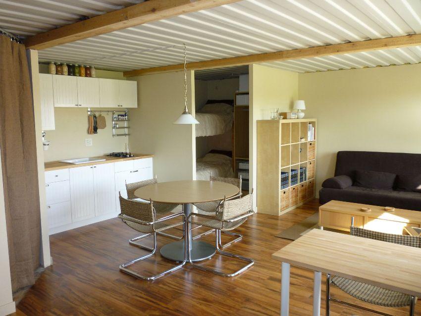 Внутри одного контейнера можно разместить небольшое, но полноценное жилье