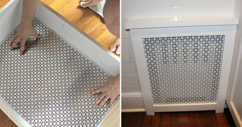 Декоративные решетки можно сделать самостоятельно, подобрав материал и подходящий к шторам и обоям цвет