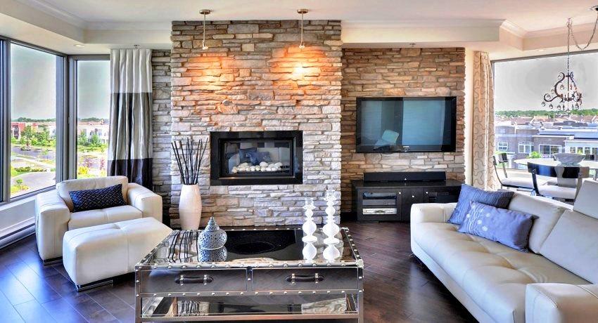 Декорировать искусственным камнем можно абсолютно любое помещение, важно чтобы камень вписался в общий стиль интерьера, либо стал интересным акцентом