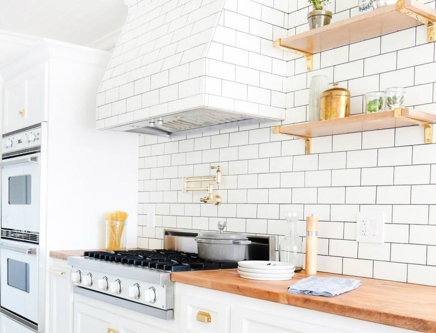 Кафель имитирующий кирпич - прекрасное решение для оформления кухни