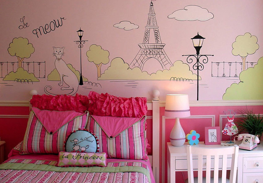 Выбрать правильные обои для комнаты подрастающей девочки - серьезный вопрос