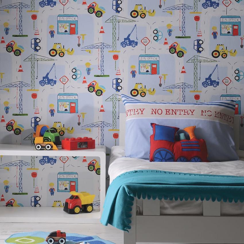 Пример оформления обоев в комнате для мальчика
