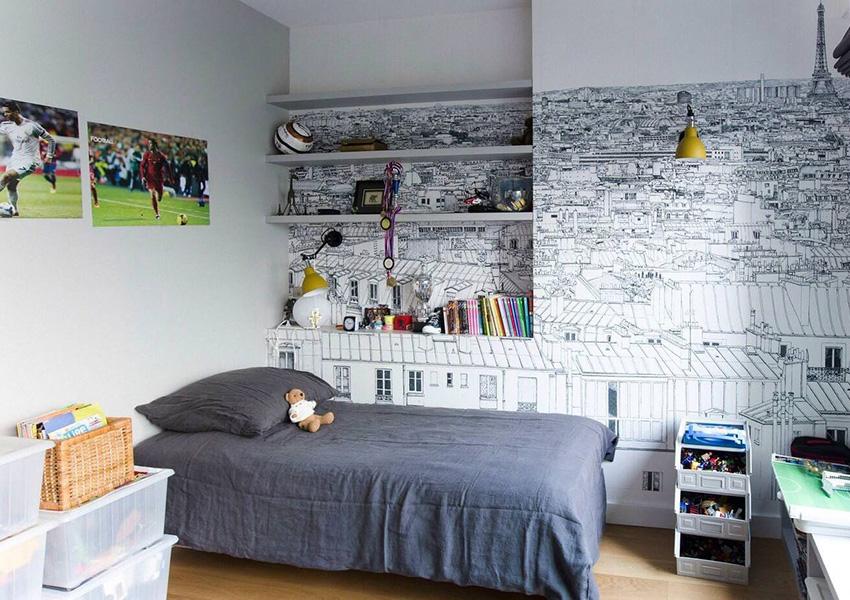 Интересное решение в оформлении комнаты для мальчика
