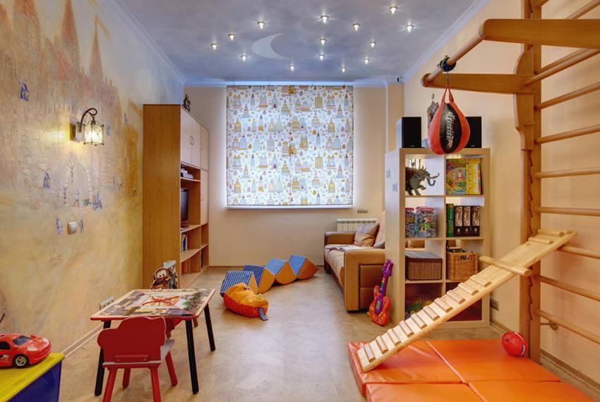 Неповторимую атмосферу в интерьере детской комнаты создают фотообои