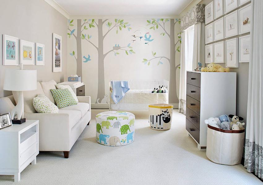 Правильными цветовыми решениями для детской спальни станут теплые пастельные тона, бежевый и светло-коричневый цвет