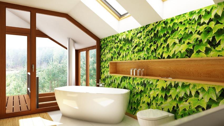 Современные дизайнеры все чаще прибегают к декору ванной комнаты с помощью влагостойких 3D фотообоев