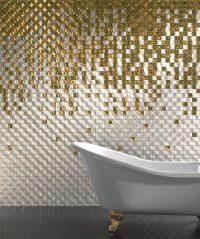 Растяжка из плитки – это панно из мозаики, на котором один цвет плавно переходит к другому