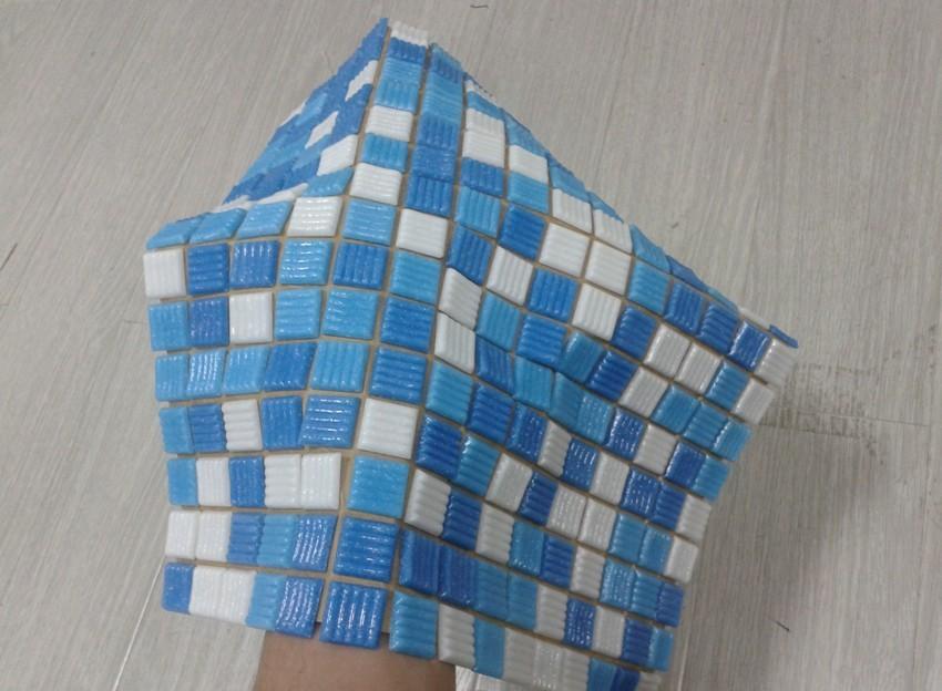 Мозаика на бумажной основе очень удобна и проста в монтаже