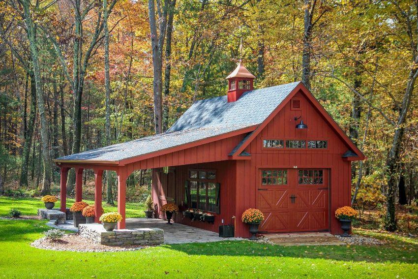 На террасе можно принимать гостей в теплое время года.