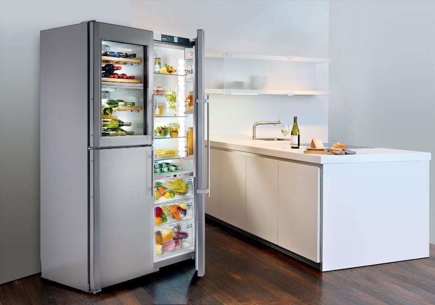В зависимости от габаритов, объем холодильника может составлять от 50 до 800 л