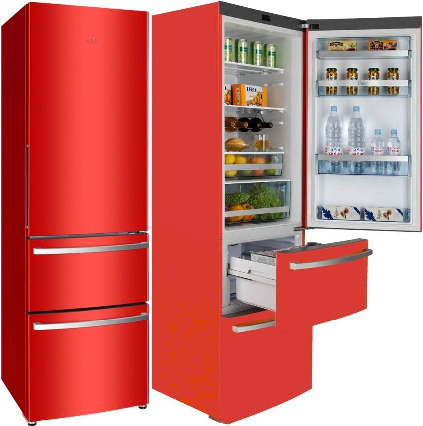 Чаще всего морозильная камера находится в нижней части холодильника