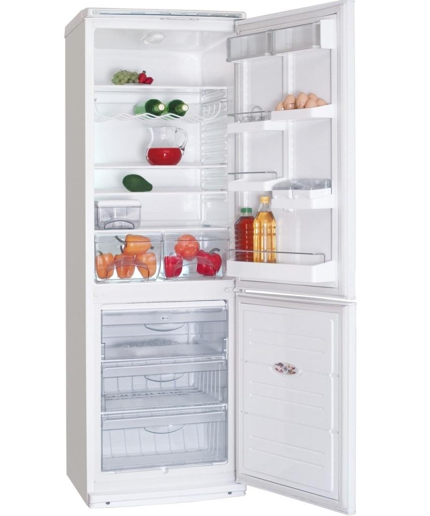 Холодильник ATLANT ХМ 6025-031 имеет объем внутренней камеры 384 л