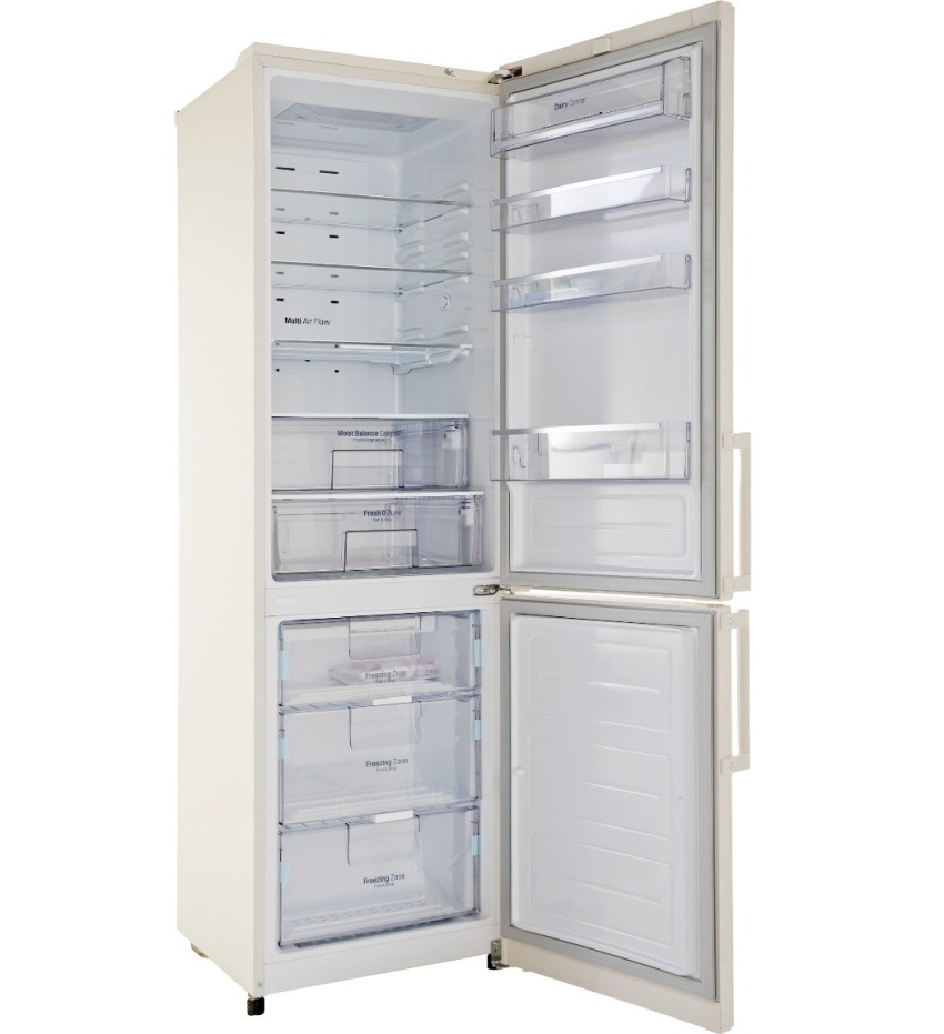 """Холодильник LG GA-B489 YEQZ имеет встроенные дополнительные функции, такие как защита от детей, """"отпуск"""" и современную систему размораживания"""