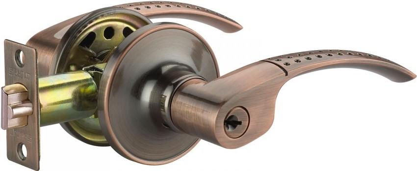 Монтажный набор дверной ручки с замком под ключ, встроенным в сердцевину
