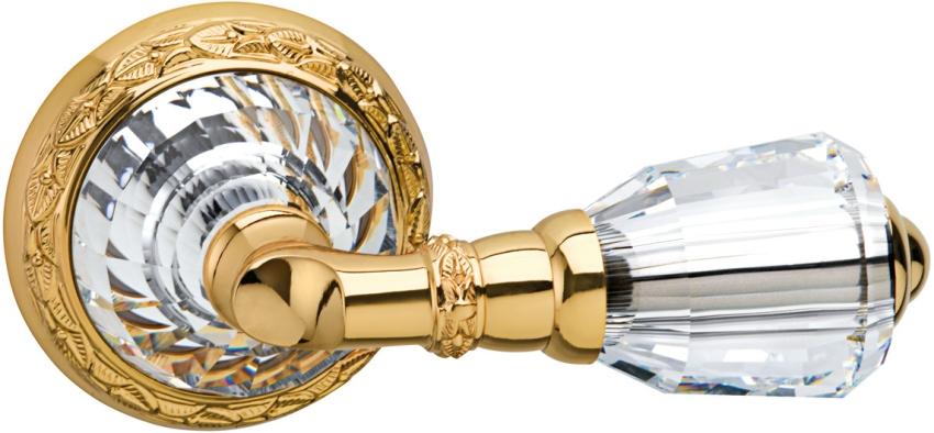 Дверная ручка из металла и стекла в классическом стиле
