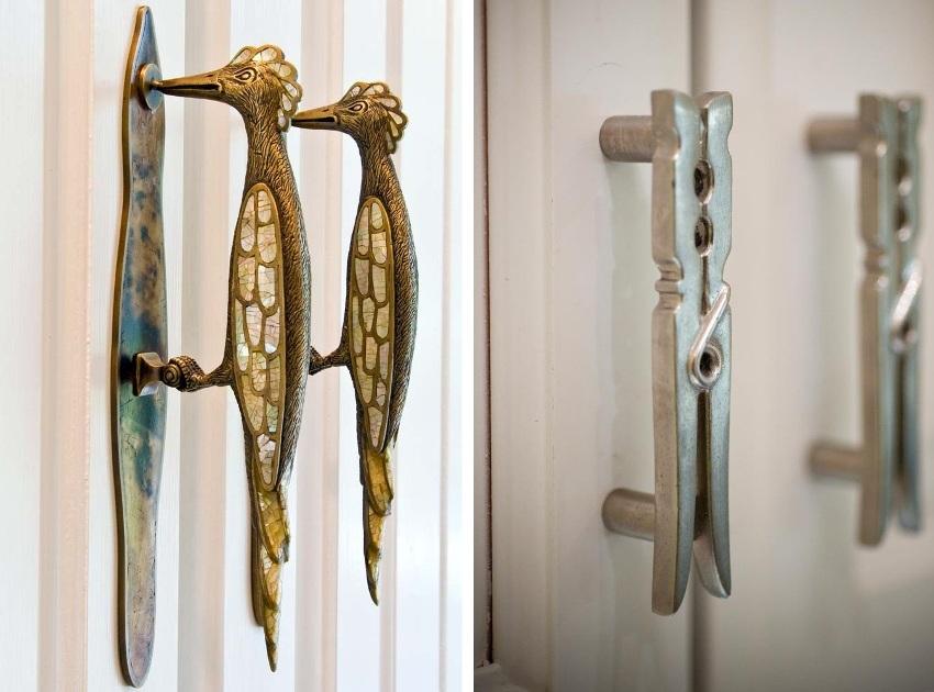 Примеры необычных дизайнерских ручек, которые не останутся незамеченными в интерьере