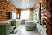 Грамотно выбранный дизайн ванной комнаты позволяет расположить все, что потребуется для соответствующих процедур