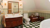 Ванная комната в стиле ретро отлично подчеркнет изысканный вкус и финансовое благополучие ее владельца