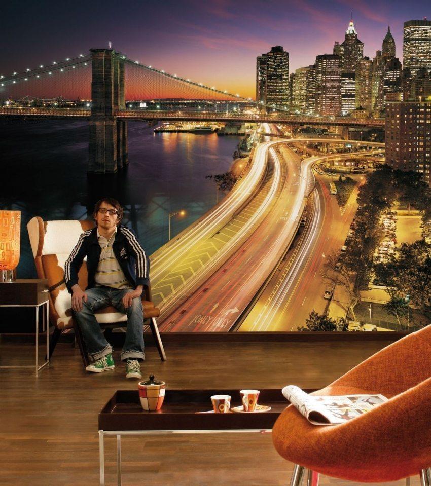 Стереоскопические обои подходят абсолютно для любого оформления жилого и нет помещения, будь оно выполнено в стиле прованс, модерн или Loft