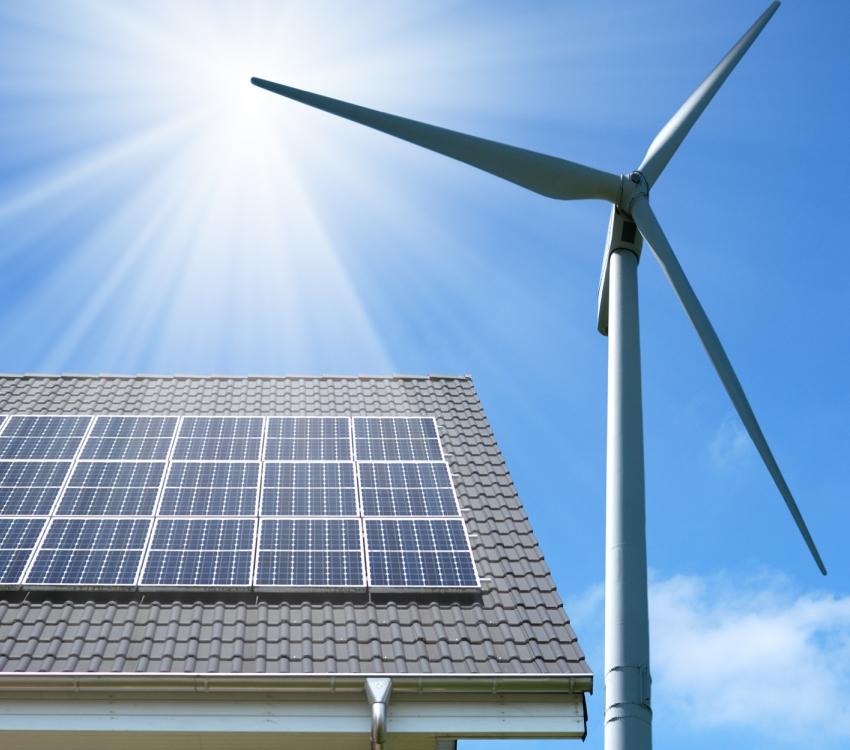 Наиболее эффективным для генерирования электроэнергии считается комбинирование ветряка и солнечных батарей