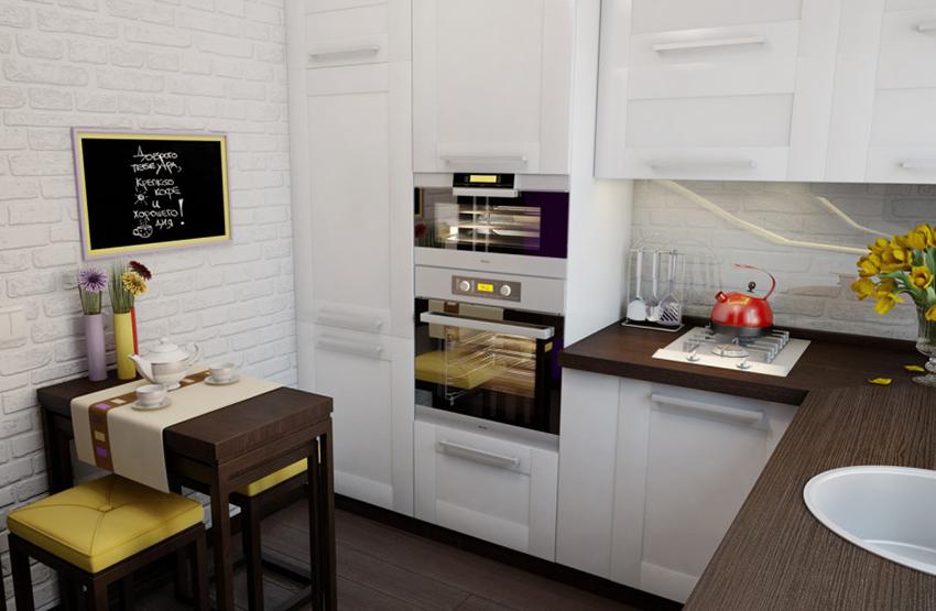 Преимущества духового шкафа, который встраивается в кухонную мебель в том, что он дает больше вариантов для размещения