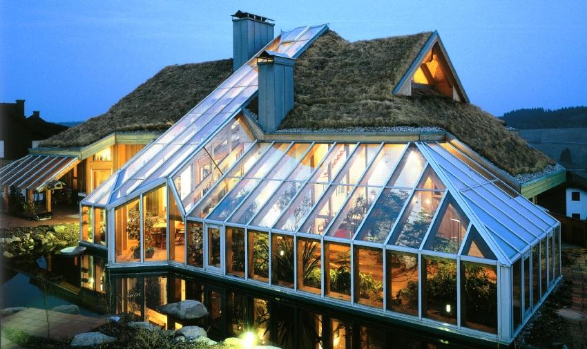 Зимний сад можно организовать в виде пристройки к дому в отдельной хорошо освещенной комнате