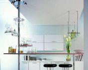 В зависимости от конструкции мебели труба для барной стойки может отличаться длиной и количеством монтажных точек