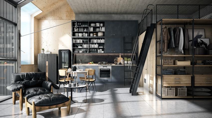Разумная и продуманная расстановка мебели, поможет организовать рабочее, спальное место и уголок для отдыха