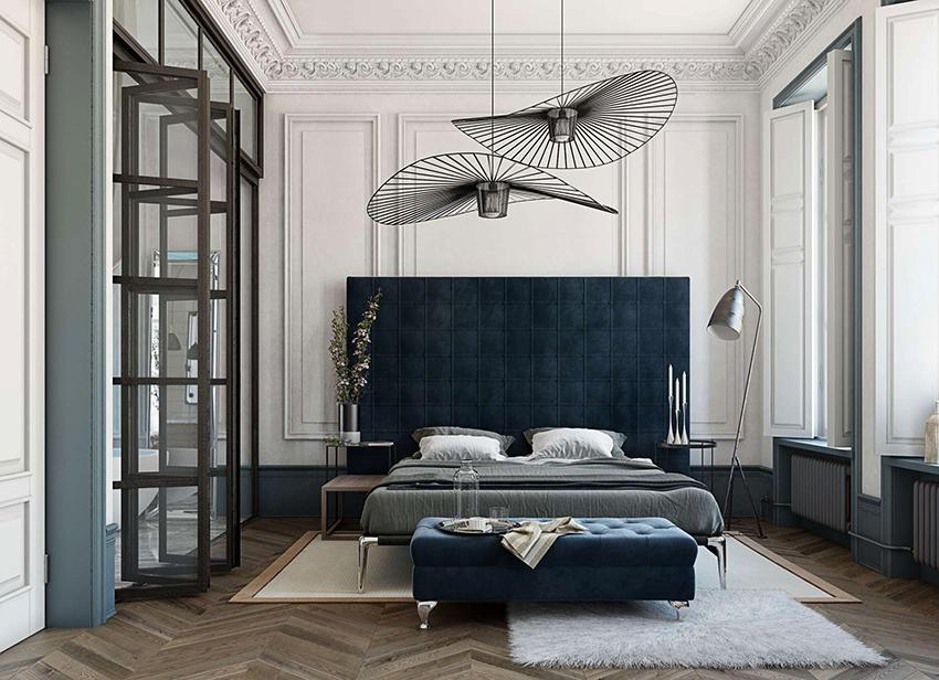 Выбирая осветительные приборы для спальни необходимо учитывать не только дизайн интерьера, но и размер помещения