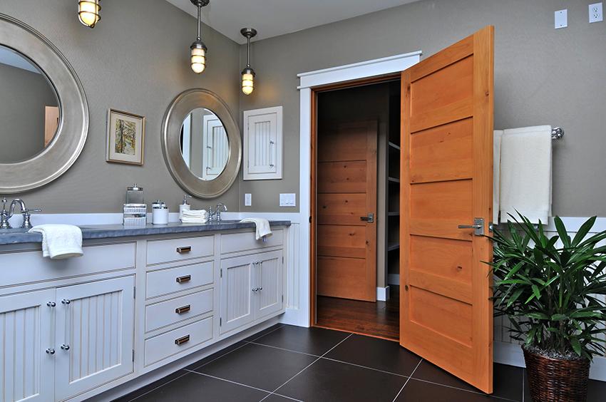 Двери из экошпона отлично подойдут для санузла, так как материал является устойчивым к резким перепадам температуры