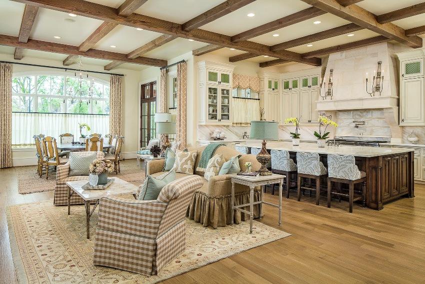 На сегодня, стиль прованс в интерьере кухни-гостиной является одним из наиболее популярных для оформления загородных домов и городских жилищ