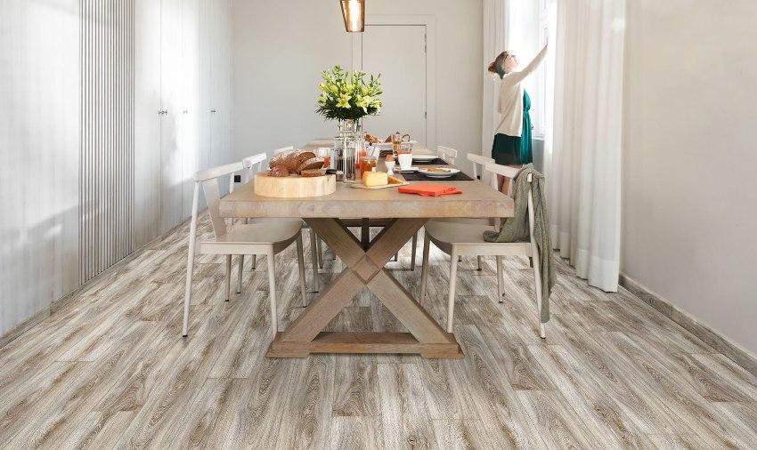Пол на кухне, зависит не только от стиля интерьера, очень важно убедиться, что для выбранного покрытия есть подходящее основание