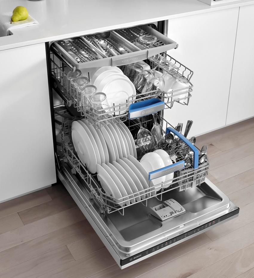 Размеры посудомоечных машин напрямую зависят от их производительности, а точнее, от возможного объема загрузки