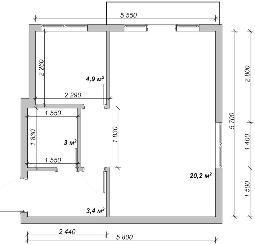 На начальном этапе ремонта в квартире осуществляются все необходимые замеры