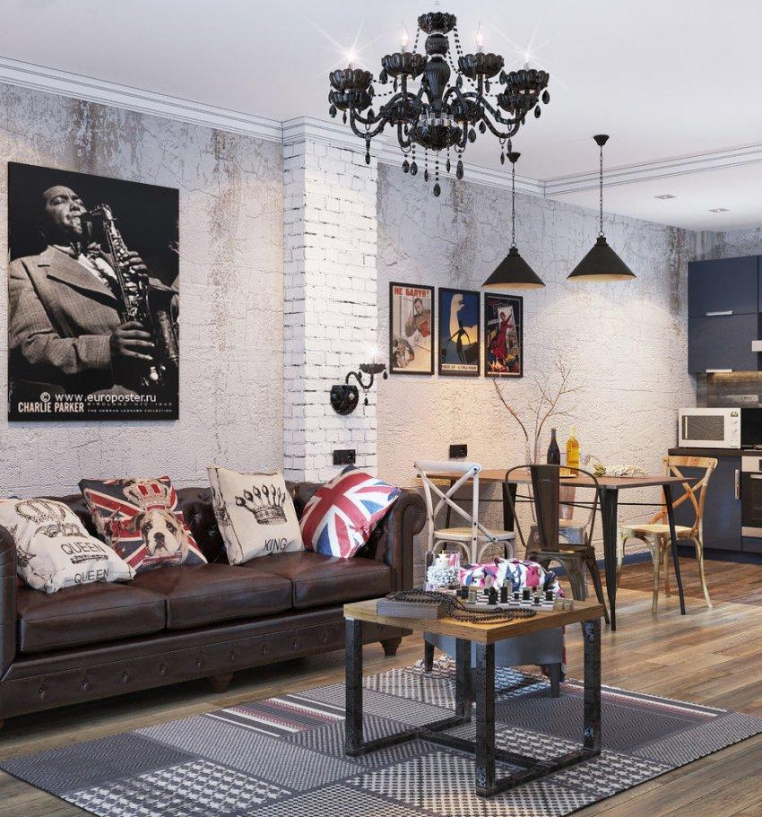 Перед началом разработки дизайн-проекта выбирается стилистика оформления помещения