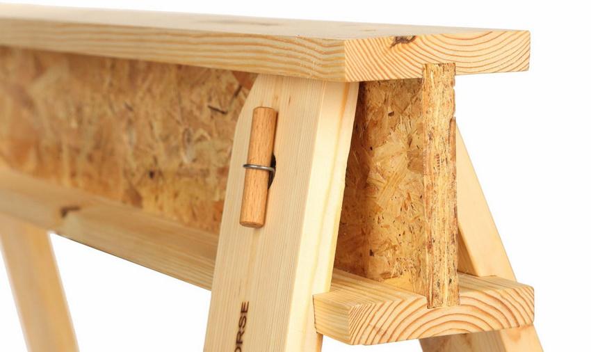 Такая конструкция как строительный козел используется для проведения работ на небольшой высоте
