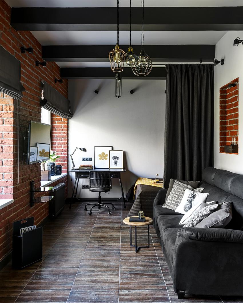 Благодаря разделению пространства на зоны помещение становится более практичным