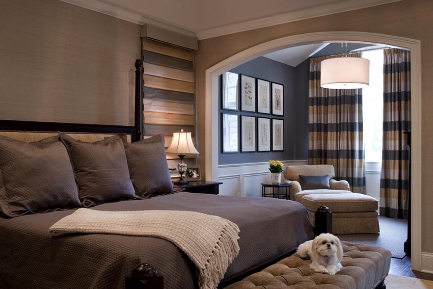 Разделяя комнату на зоны с помощью разных цветов важно не переборщить и добиться гармонии