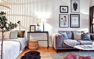 Зонирование комнаты на спальню и гостиную: дизайн и функциональное наполнение
